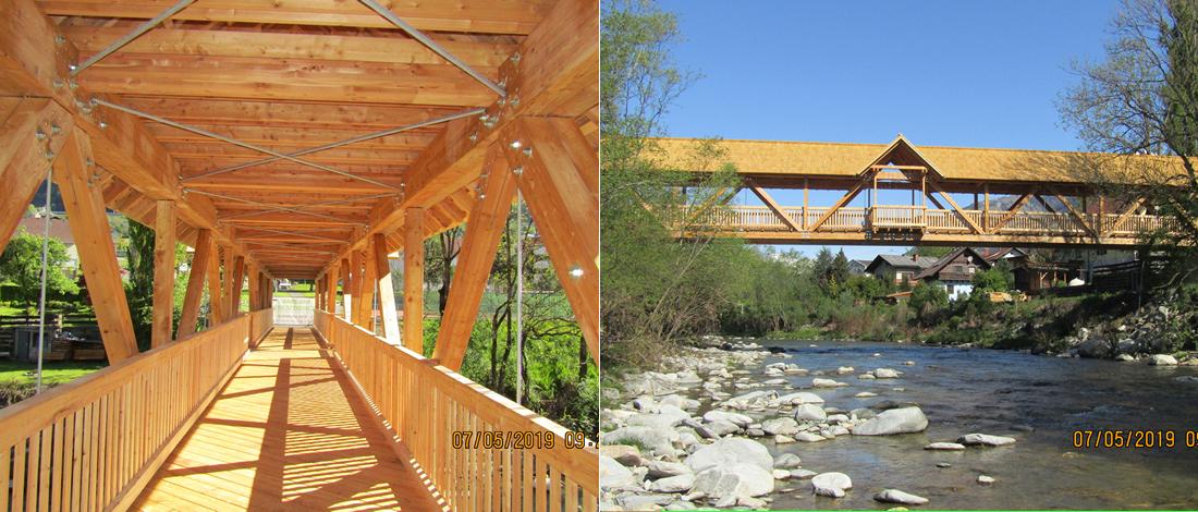 Radwegbrücke aus Holz