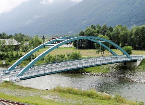 Stahlbogenbrücke Watschig über die Gail (L= 52,5 m)