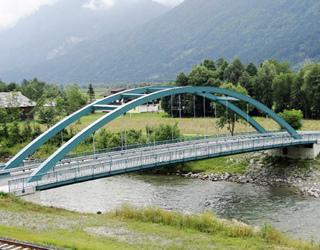 Gailbrücke Watschig - Bezirk Hermagor / Kärnten / Austria. Bauherr: Abt. 18 - Wasserwirtschaft