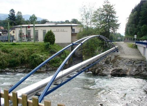 Rohrbrücke über die Lieser (L= 42,5 m)