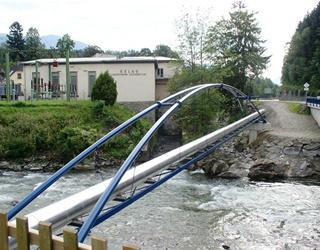 Rohrbrücke über die Lieser - Bezirk Spittal / Kärnten / Austria. Bauherr: Wasserverband Millstättersee