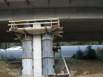 Brückenanhebung für Lagertausch