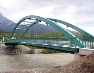 Gailbrücke Gundersheim - Bezirk Hermagor / Kärnten / Austria. Bauherr: Abt. 18 - Wasserwirtschaft