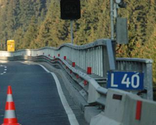 Altersbergbrücke: Statische Kurzüberprüfung hinsichtlich der Überfahrt eines 150 Tonnen Sonderfahrzeuges.