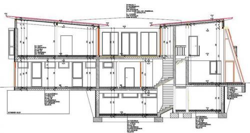 Gebäudeschnitt (Einreichprojekt)