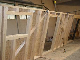 Abnahme der Holzrahmenkonstruktion (Wände)
