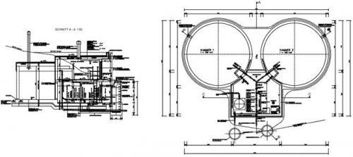 Auszug aus der Planung der Hochbehälter in Baldramsdorf