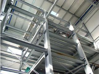 Mayer Hallenbau - Produktionsturm - Dreidimensionale statisch konstruktive Bearbeitung