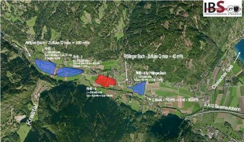 """Machbarkeitsstudie mit der Planung von 3 – 4 Rückhalteanlagen für den Hochwasserschutz """"Afritzbach"""""""